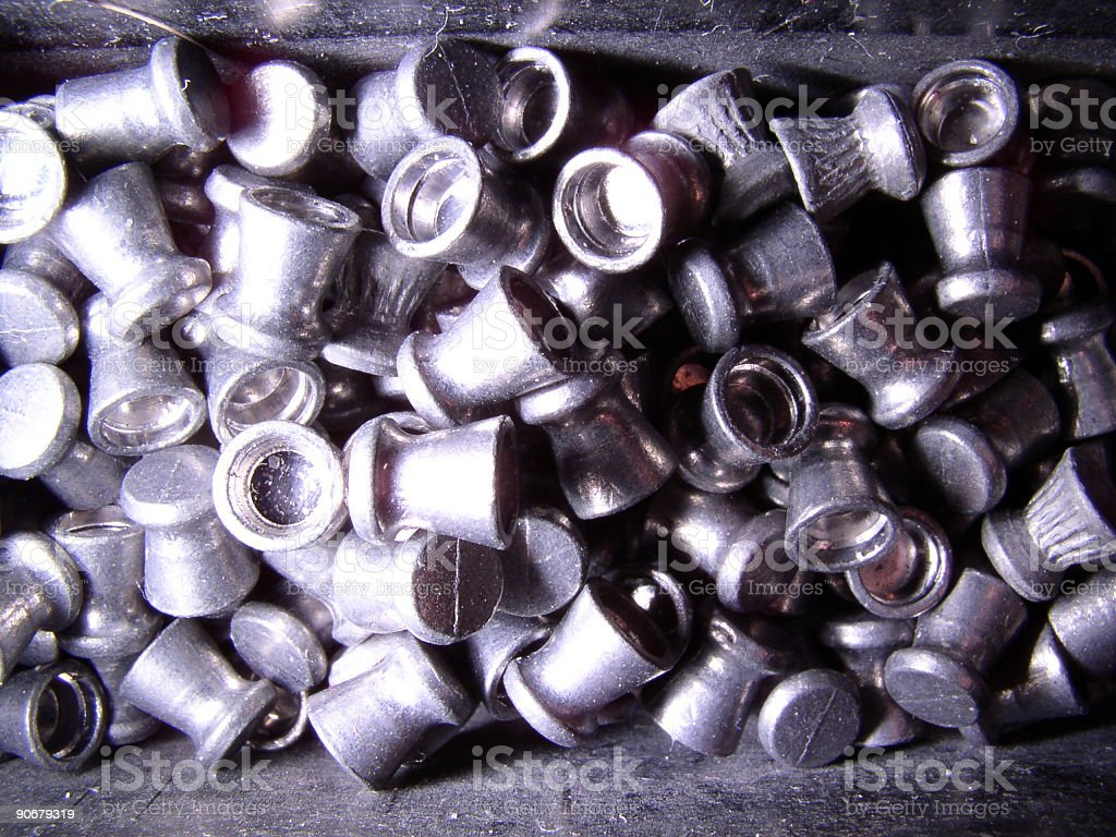 Box of pellets for a pellet gun royalty-free stock photo