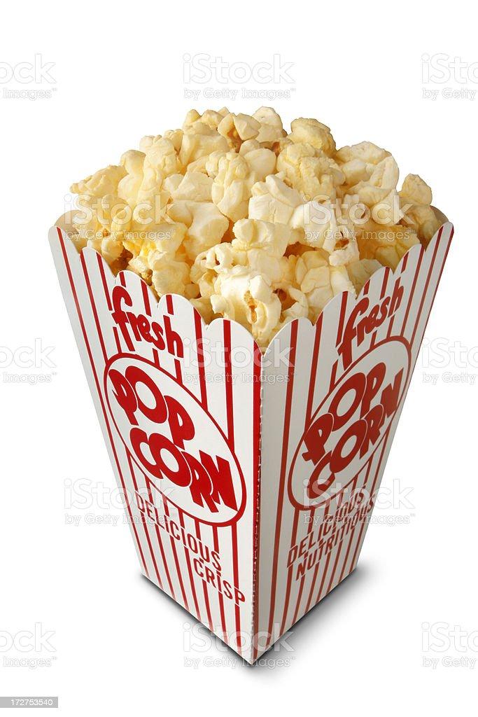 Box of Popcorn royalty-free stock photo