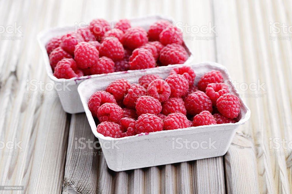 box of raspberries royalty-free stock photo
