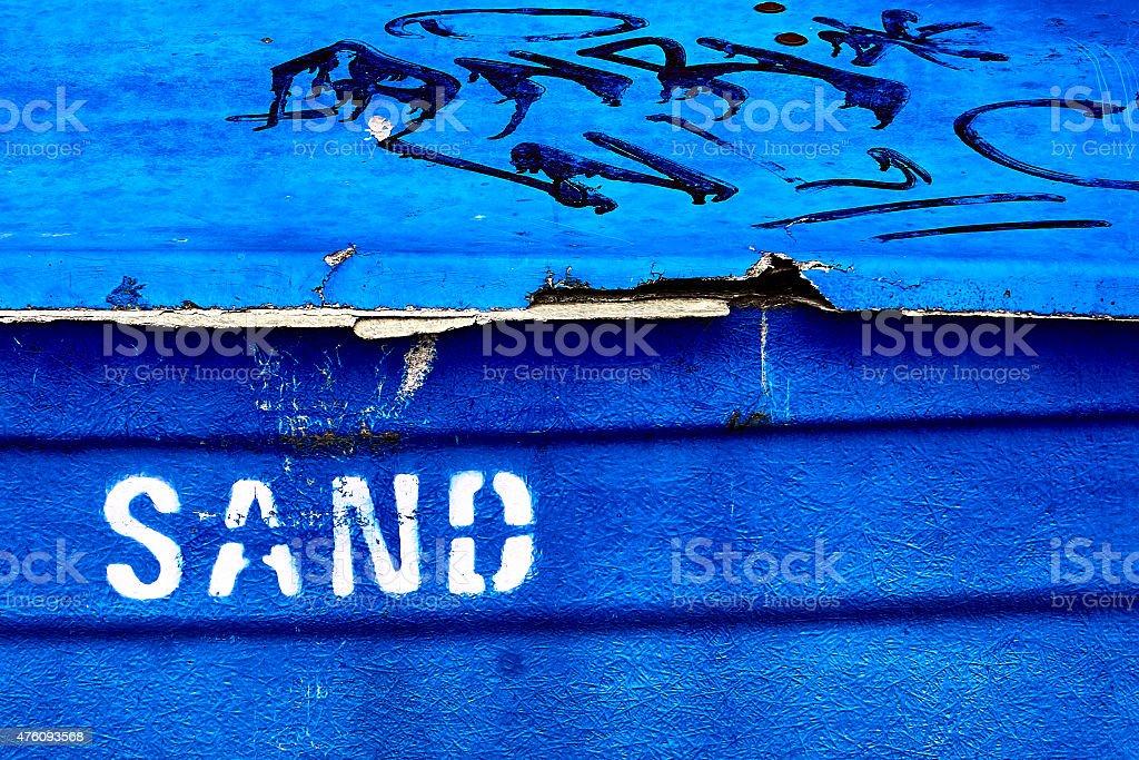 Box of sand stock photo