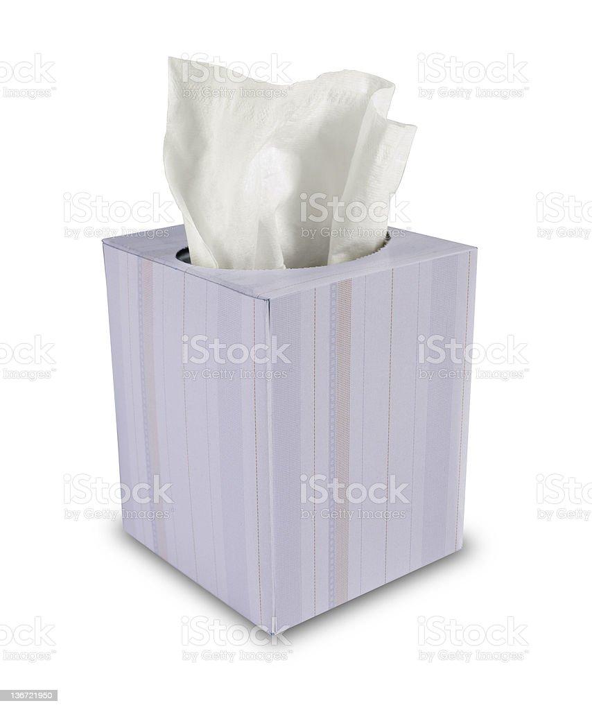 Box of Tissue Paper stock photo