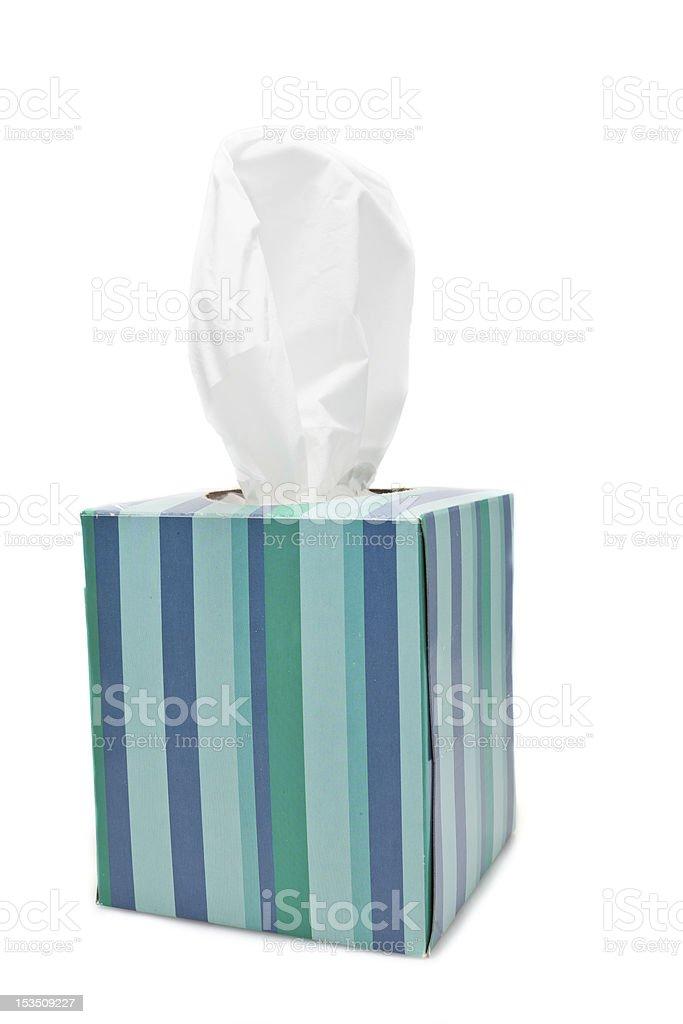 Box of tissues stock photo