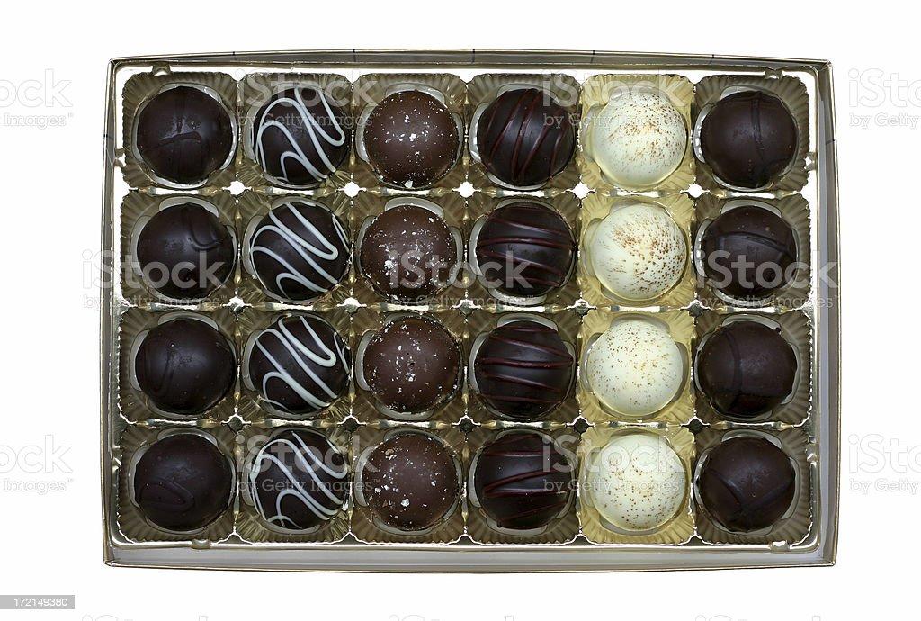 box of truffles royalty-free stock photo