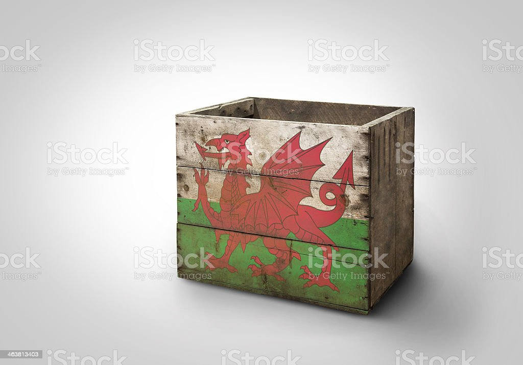 Box of Wales stock photo