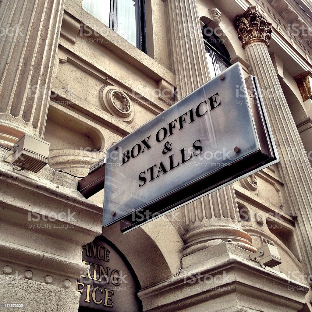 Box Office and Stalls royalty-free stock photo
