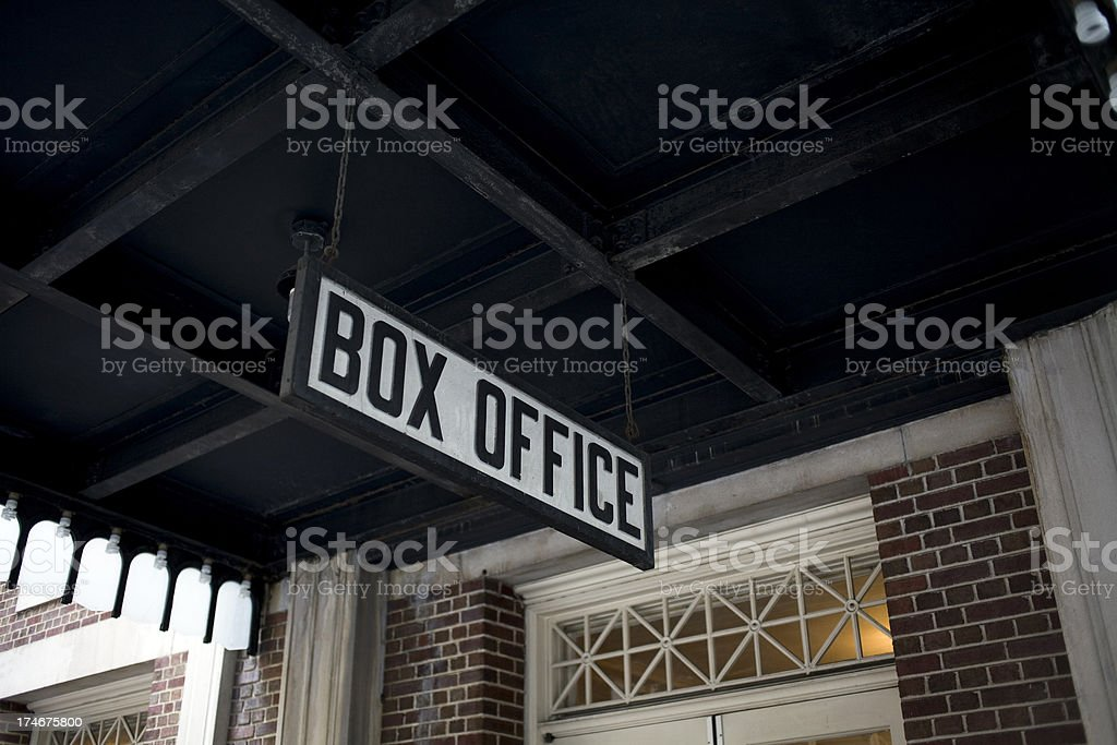 Box Office royalty-free stock photo