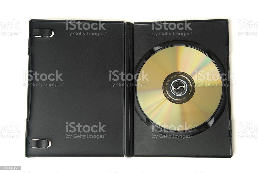 DVD box on white royalty-free stock photo