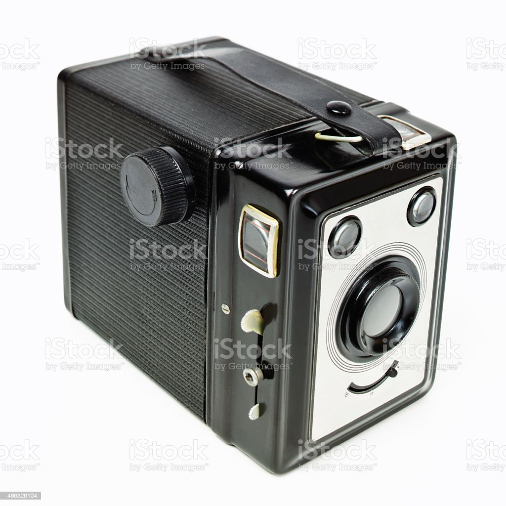 box pinhole camera from 40' stock photo