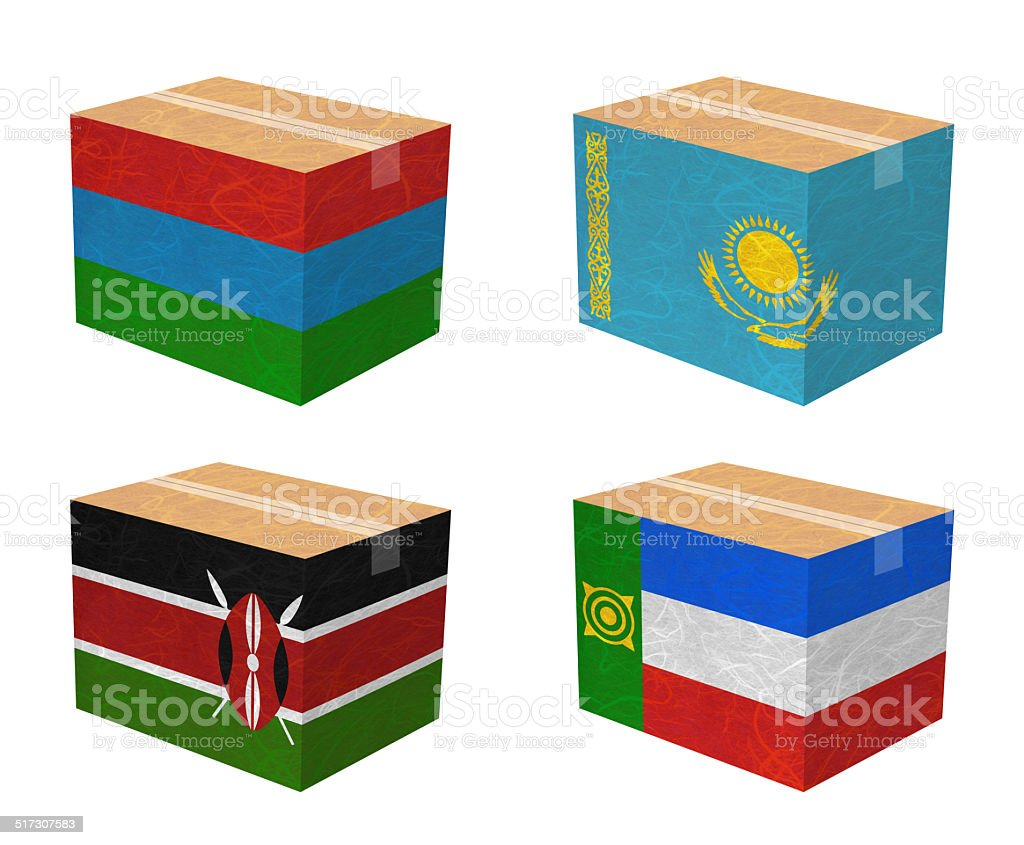 Box recycled paper vector art illustration