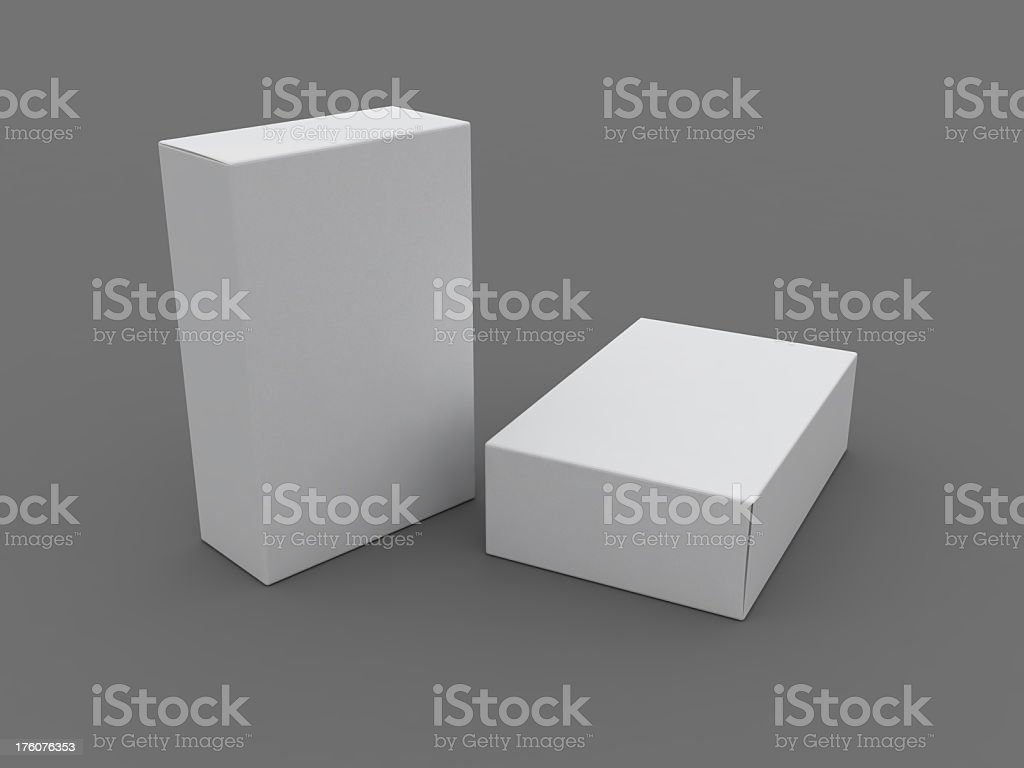 Box template royalty-free stock photo