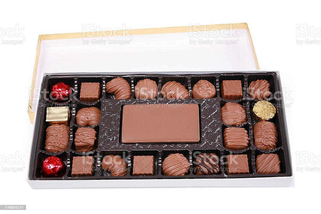 Box O Chocolates royalty-free stock photo