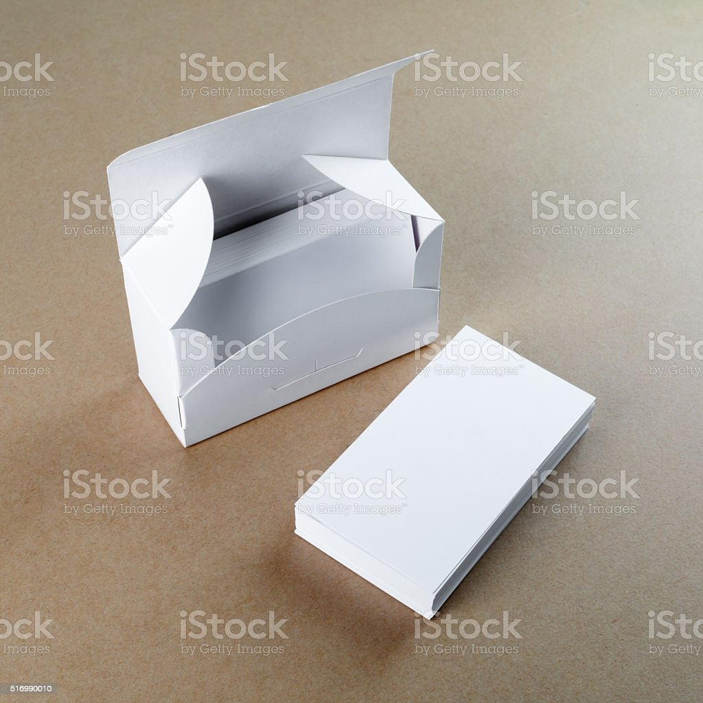 Box with blank business cards stock photo 516990010 istock box with blank business cards royalty free stock photo reheart Gallery