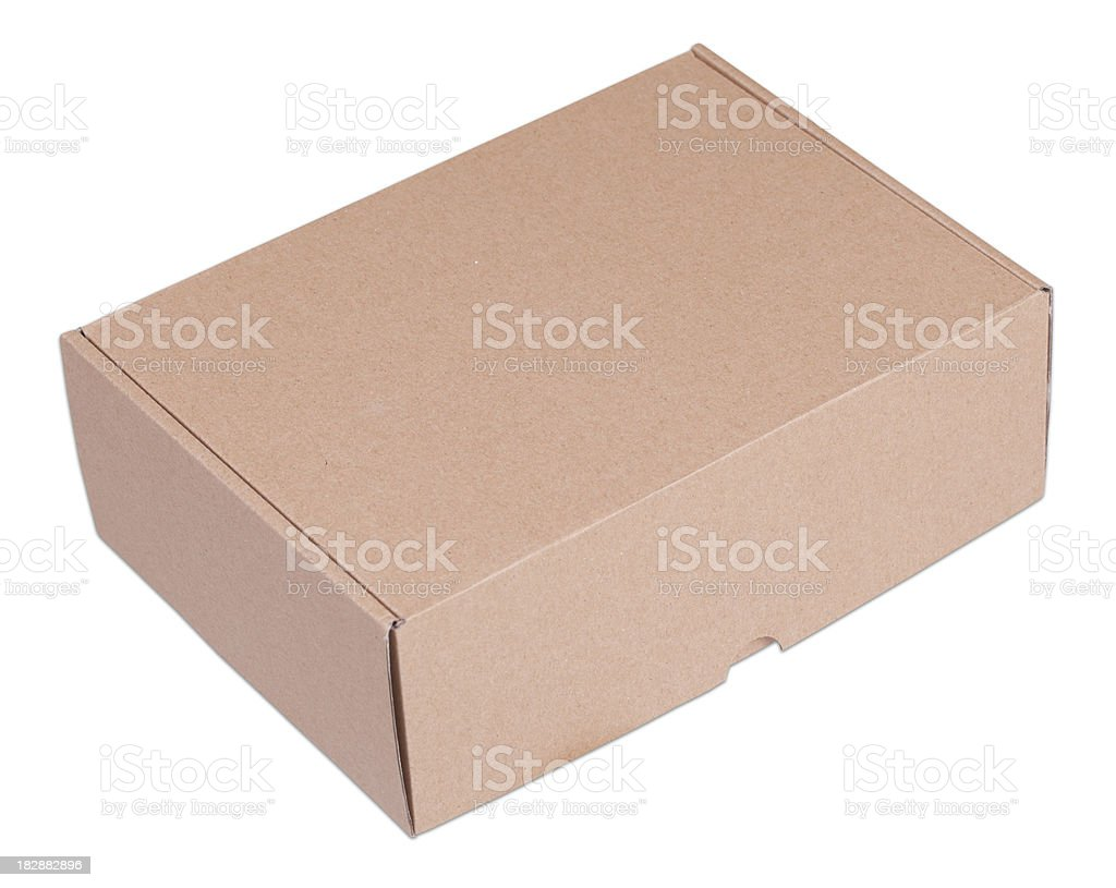 Box with Clipping Path stock photo