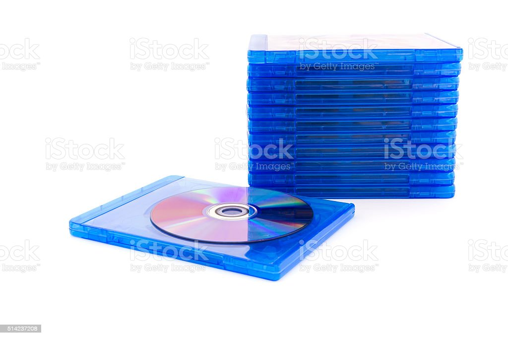 DVD box with disc stock photo