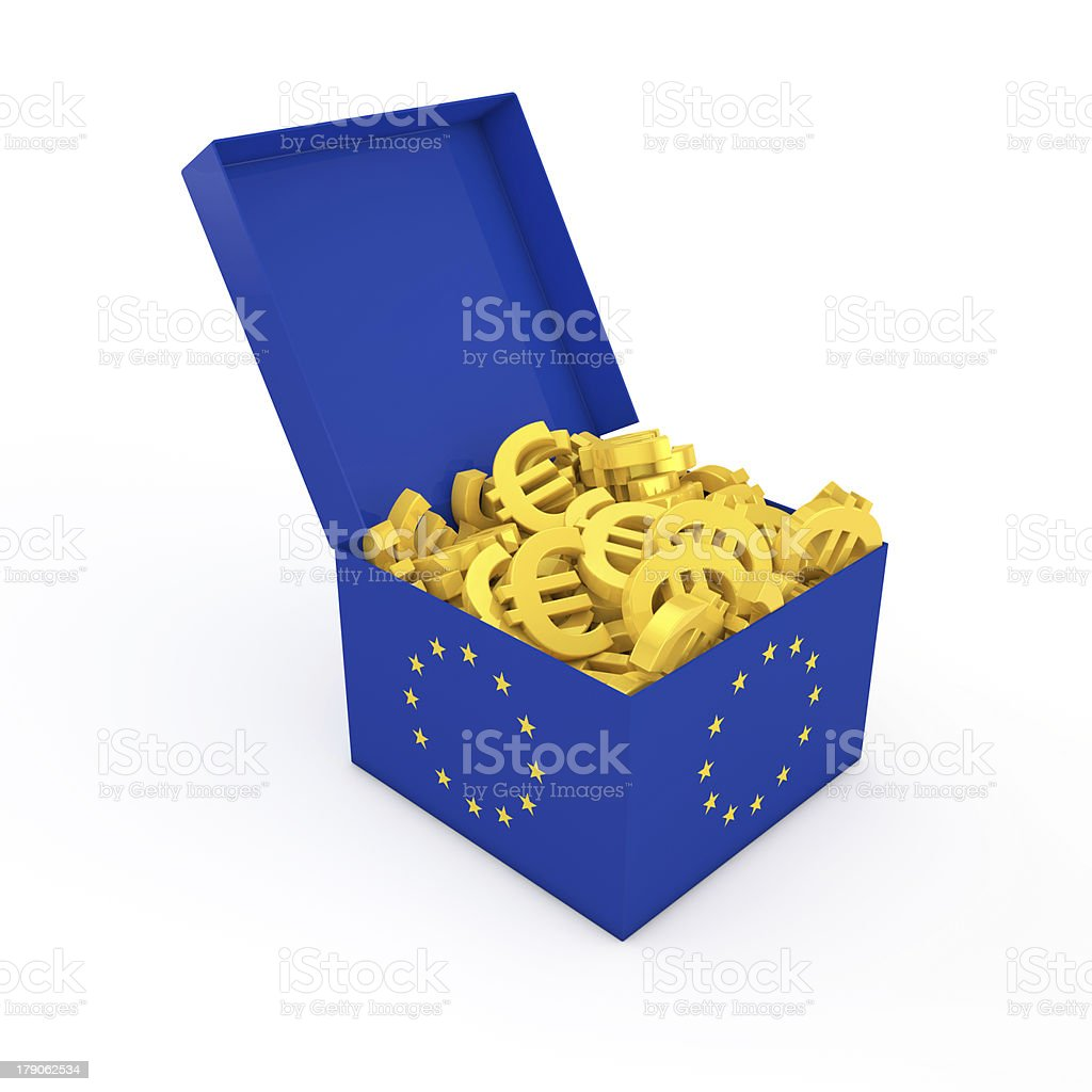 Box with Euro royalty-free stock photo