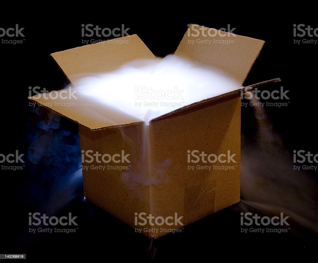 Box with heavy fog royalty-free stock photo