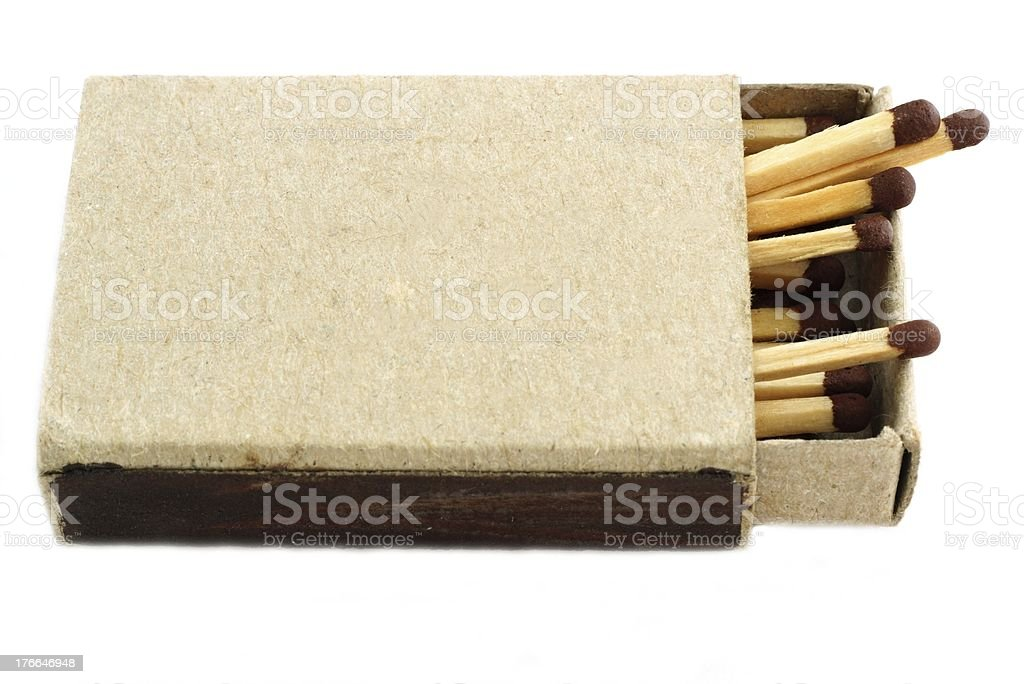 Box with matches royalty-free stock photo