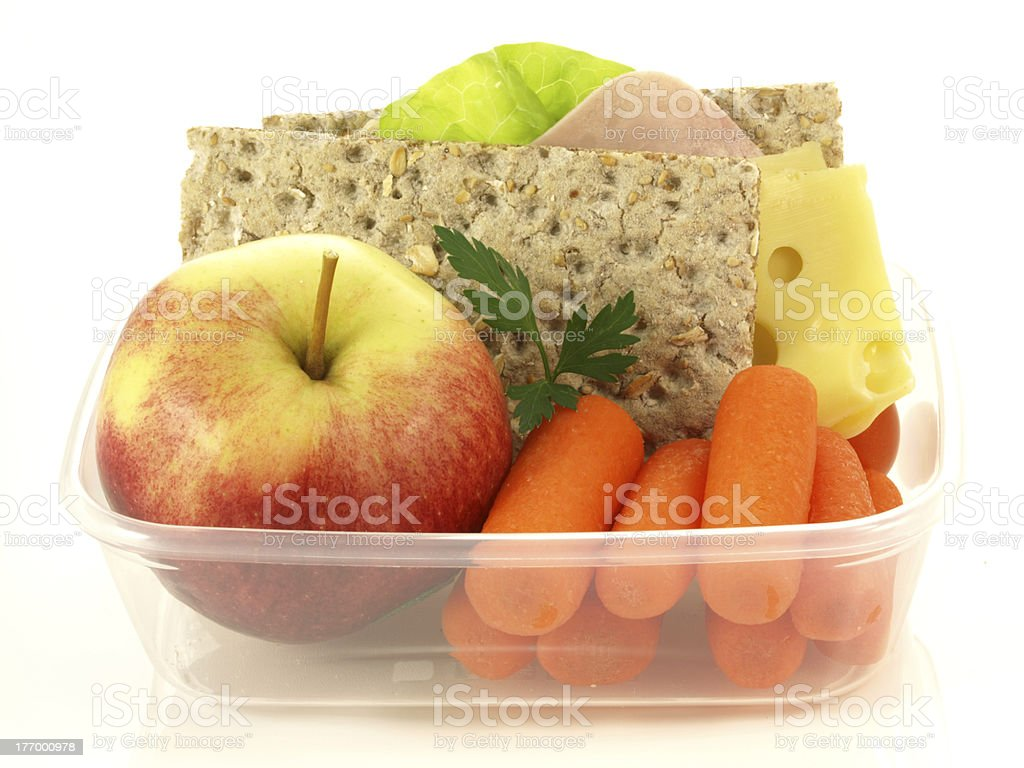 Box with snacks, isolated royalty-free stock photo