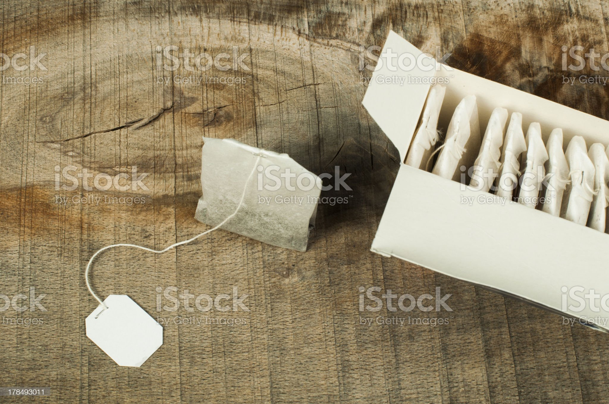 Box with tea bags royalty-free stock photo