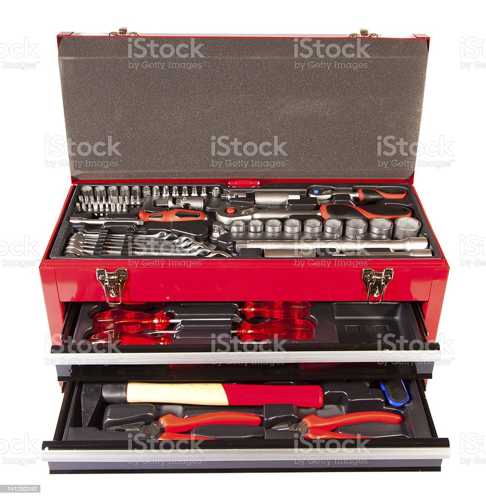 box with the tool royalty-free stock photo