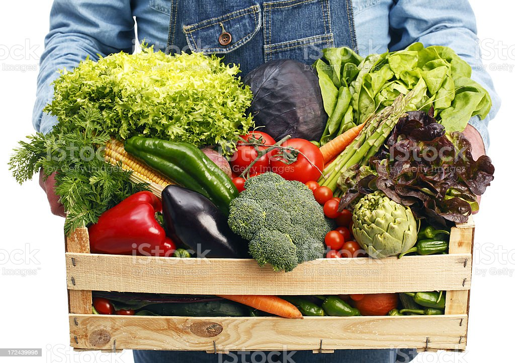 Box with vegetables royalty-free stock photo