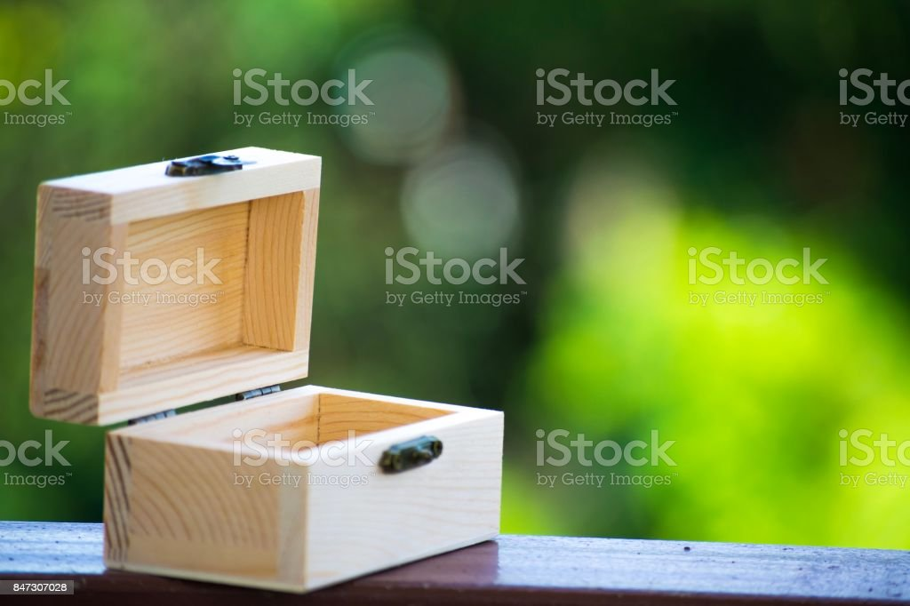 Box wood on bokeh tree blurred background. using wallpaper or background for object, package or product image. stock photo