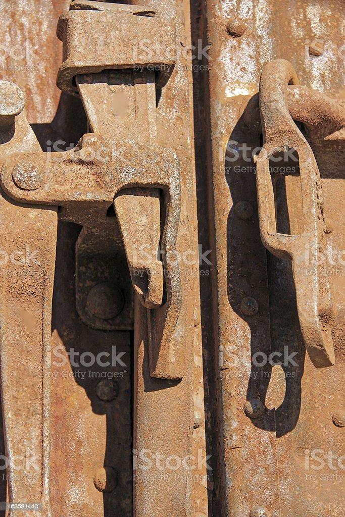 Boxcar door lock royalty-free stock photo