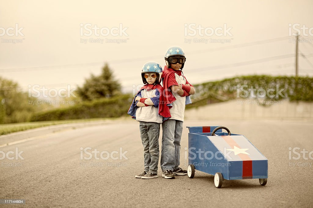 Boxcar Racers royalty-free stock photo