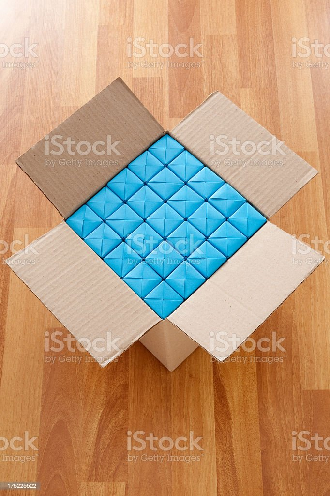 Boxed blue cubes royalty-free stock photo