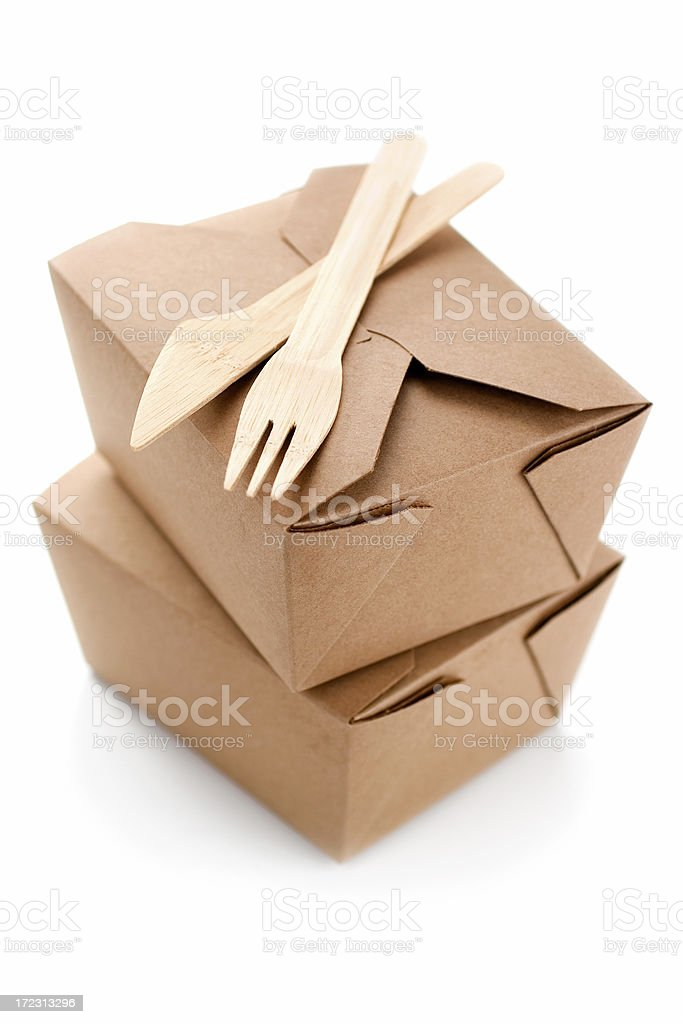 Boxed Lunch stock photo