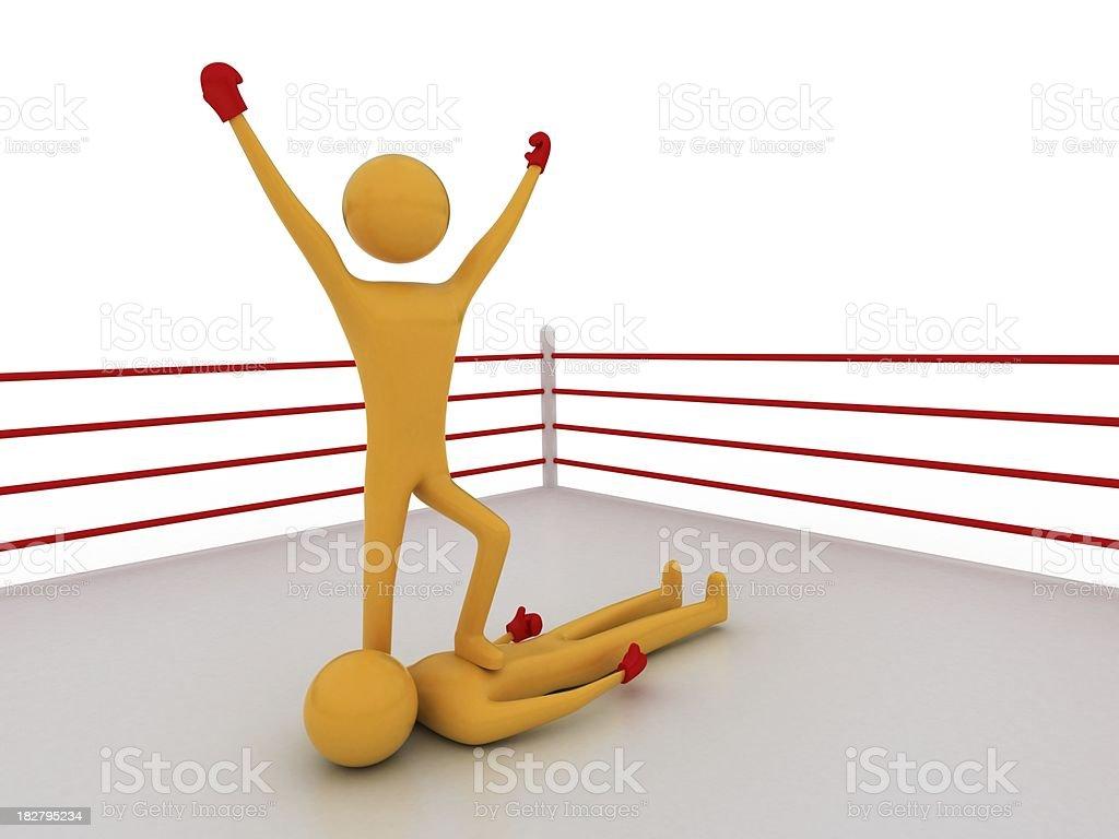 boxer champion royalty-free stock photo