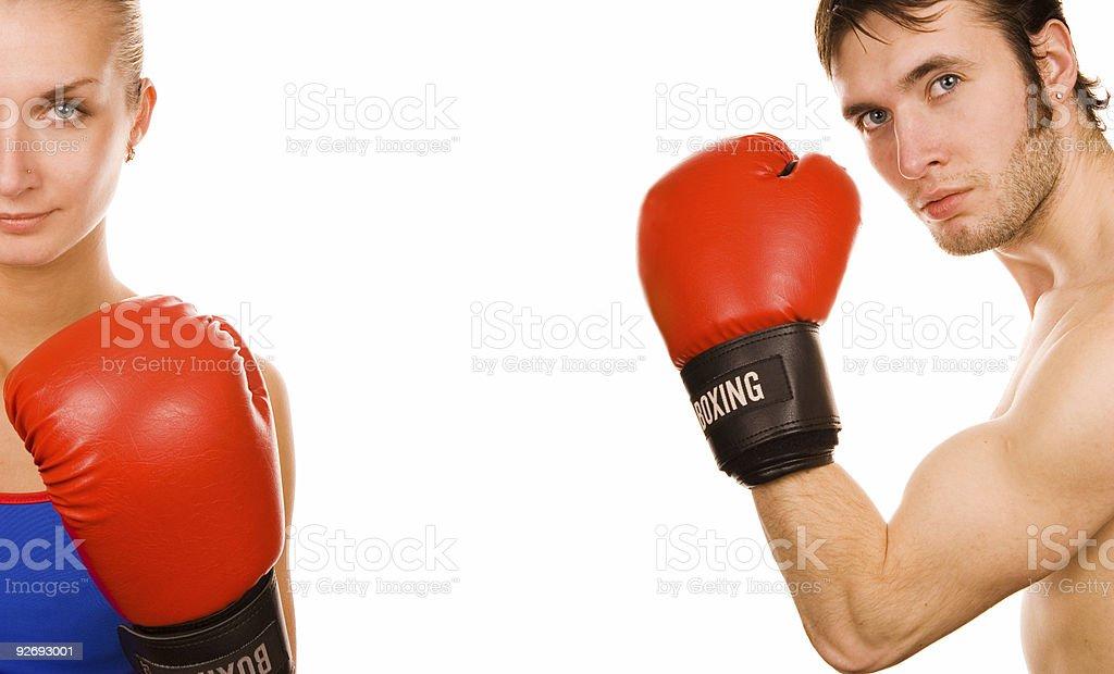 Boxer couple royalty-free stock photo