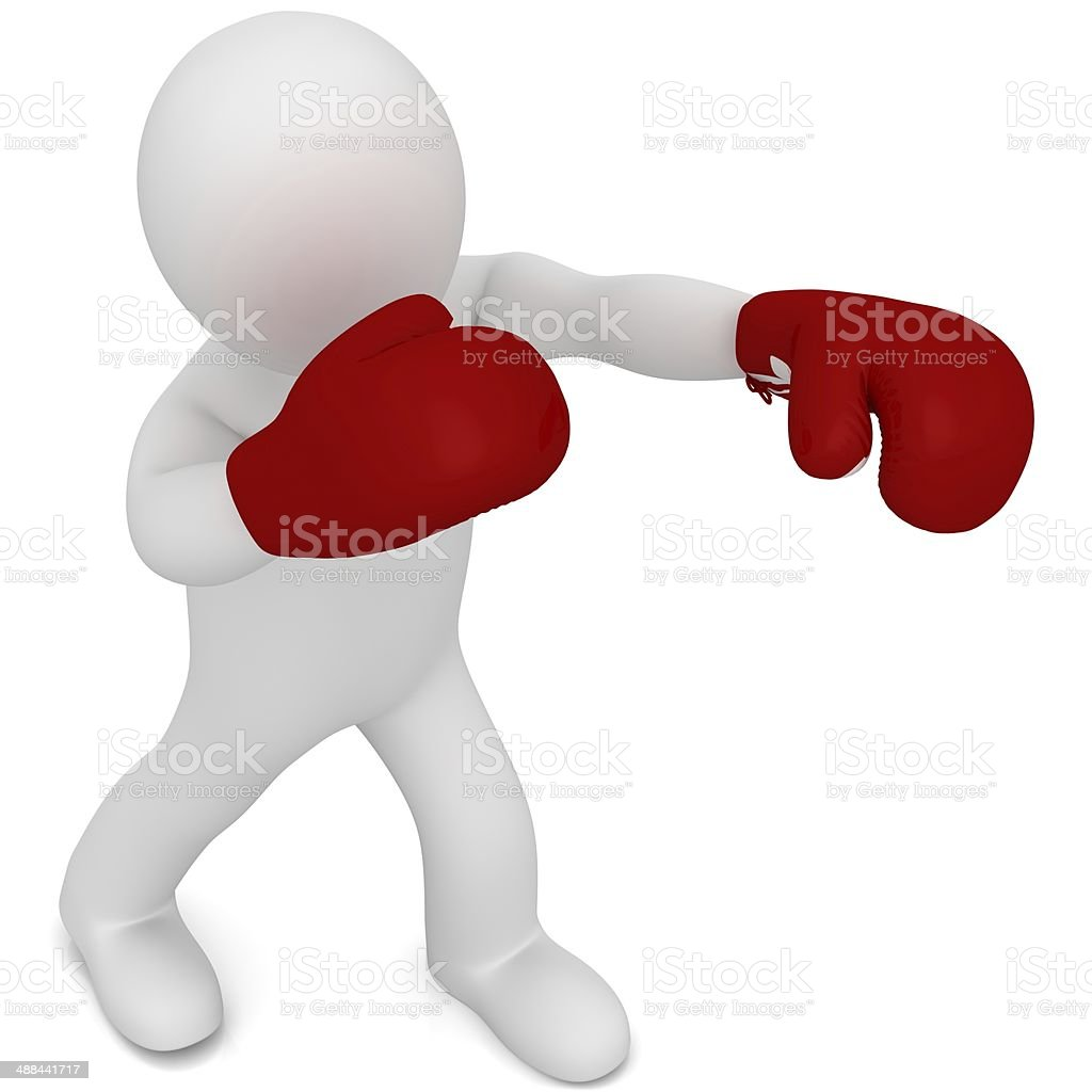 Boxer fighter stock photo