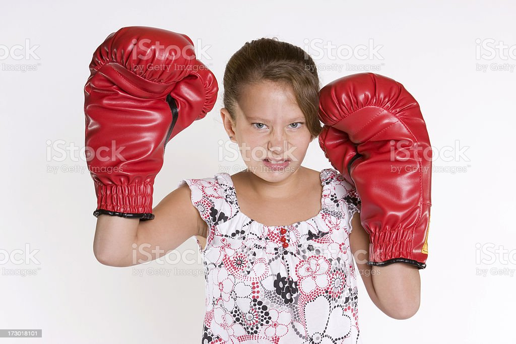 Boxer Girl stock photo