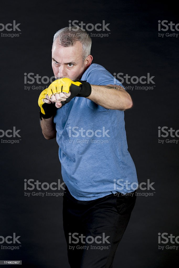 Boxer In Training, Focus On His Eyes royalty-free stock photo