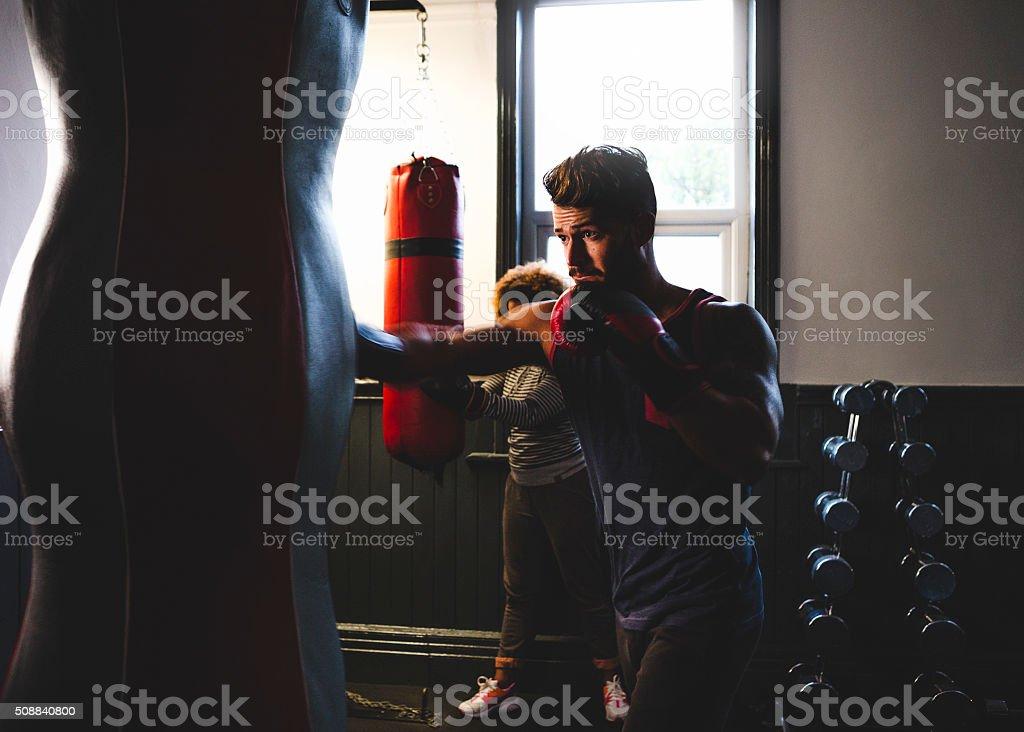 Boxer in Training stock photo