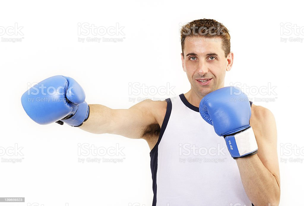 Boxer punch royalty-free stock photo