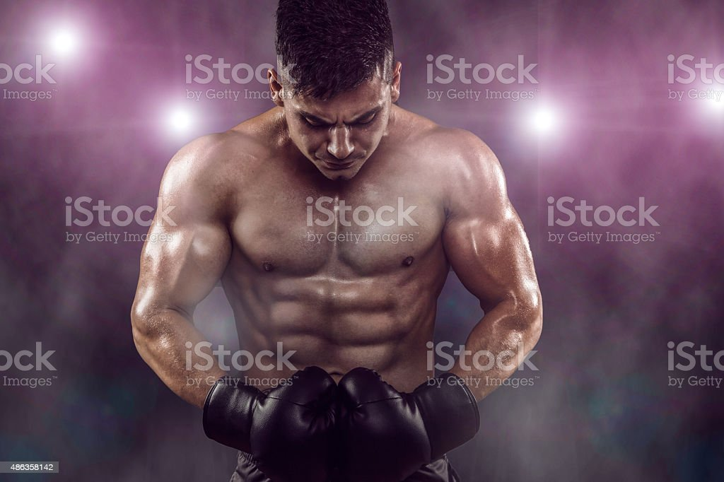 Boxer Ready To Fight stock photo