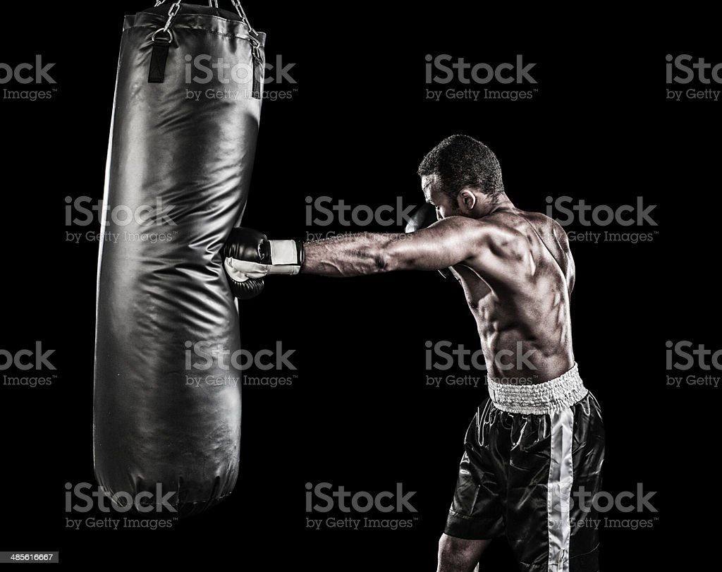 Boxer training stock photo