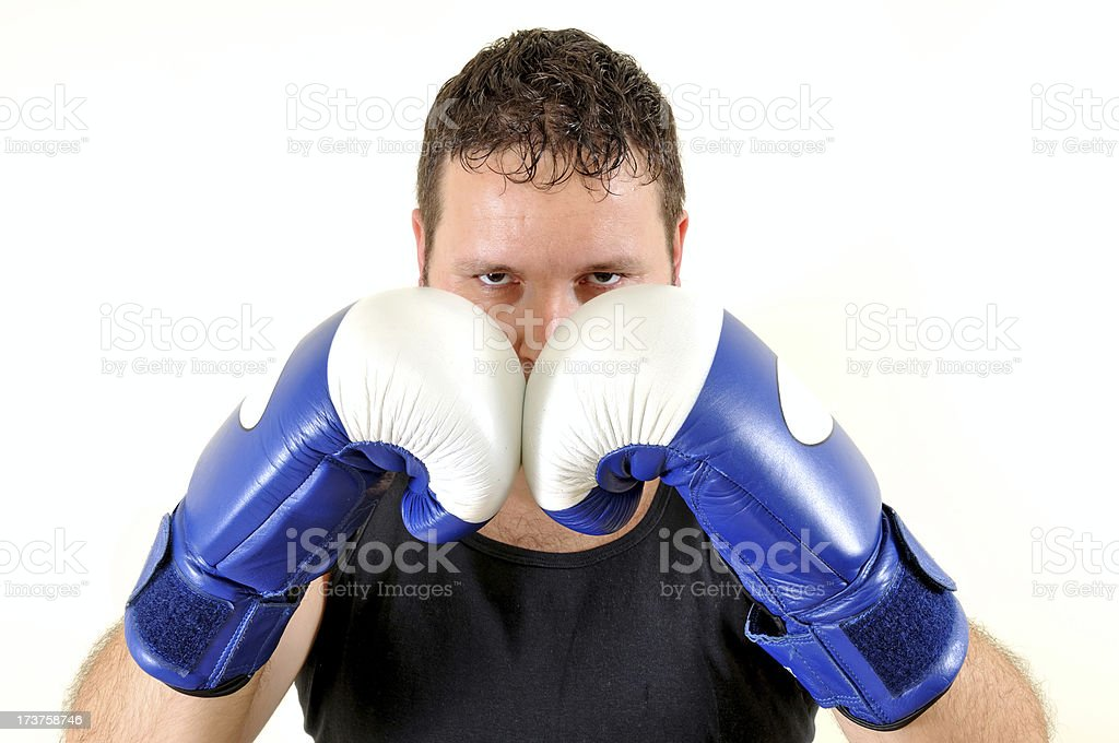 boxer vowing for win royalty-free stock photo