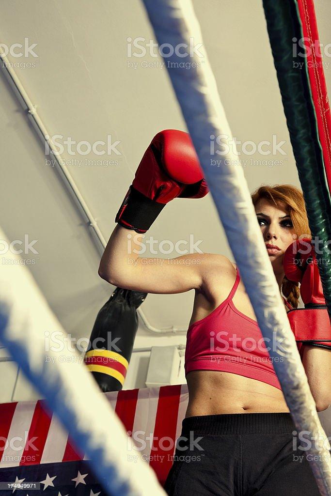 Boxer Woman stock photo