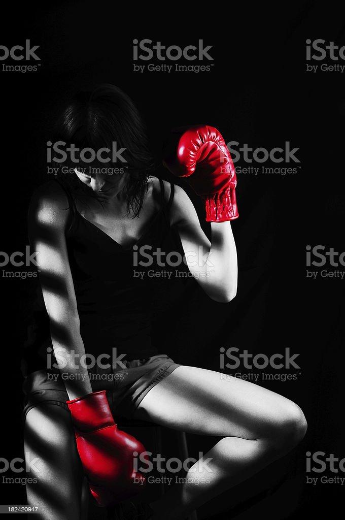 Boxer Woman royalty-free stock photo