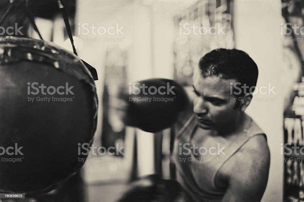 boxer working out royalty-free stock photo
