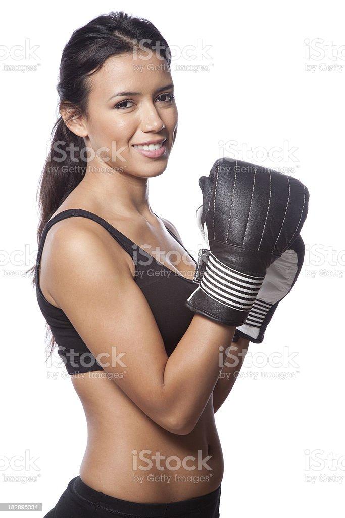 Boxercise royalty-free stock photo