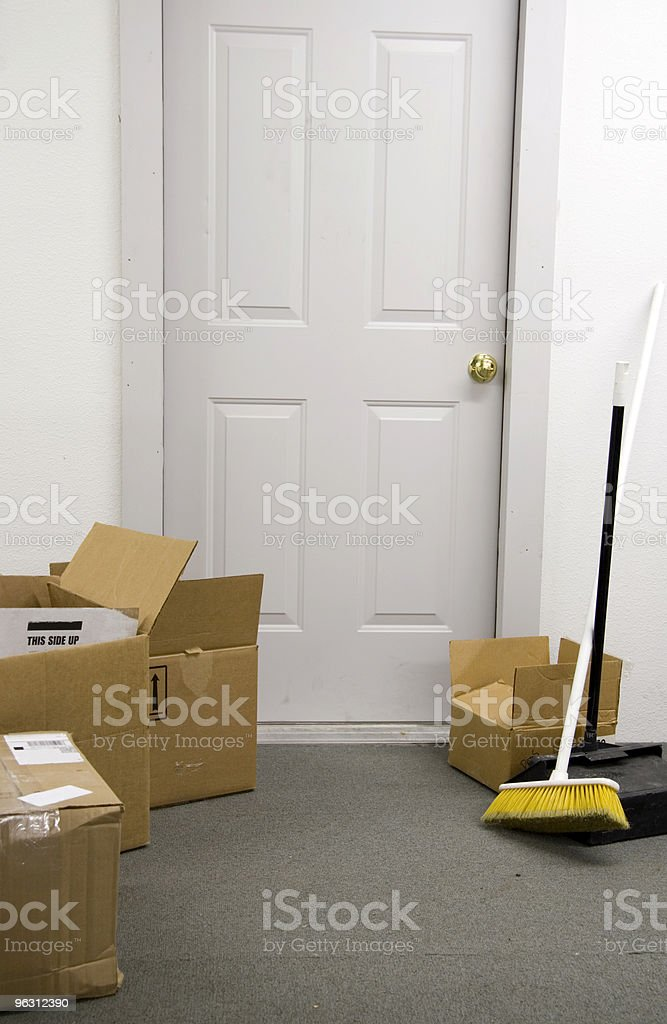 Boxes in Doorway royalty-free stock photo