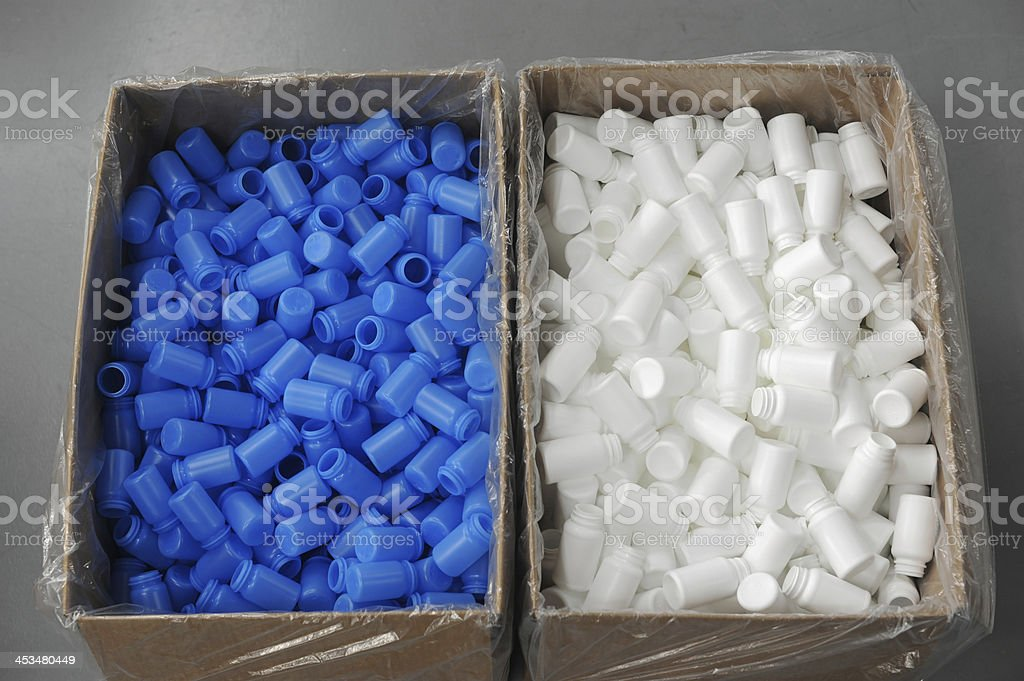 Boxes of Plastic stock photo