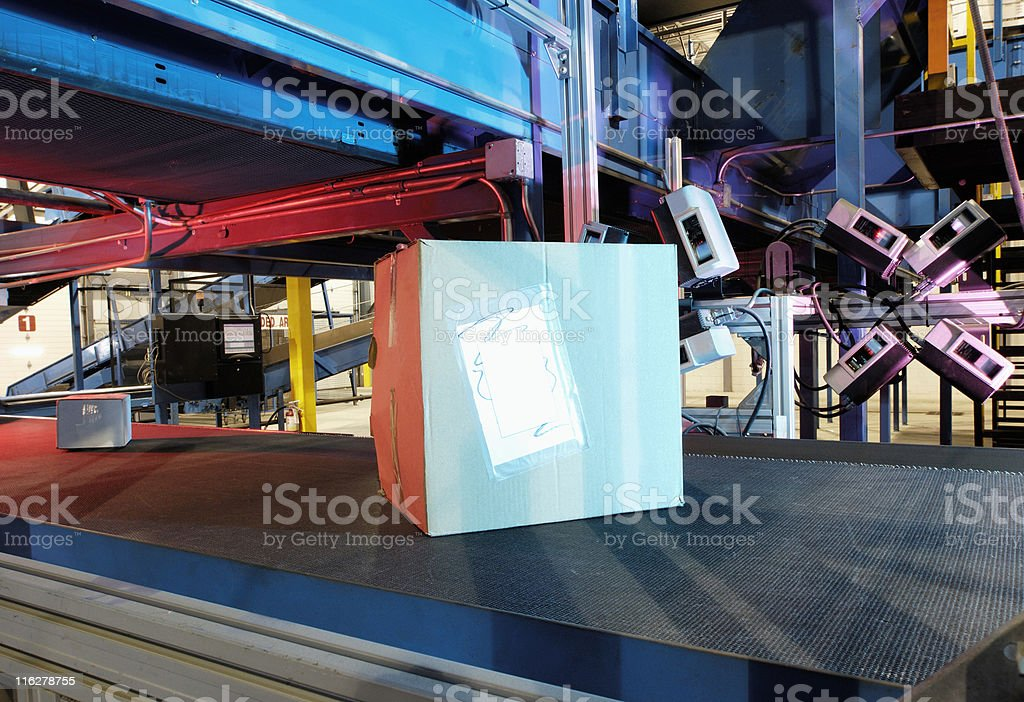 Boxes on the go royalty-free stock photo