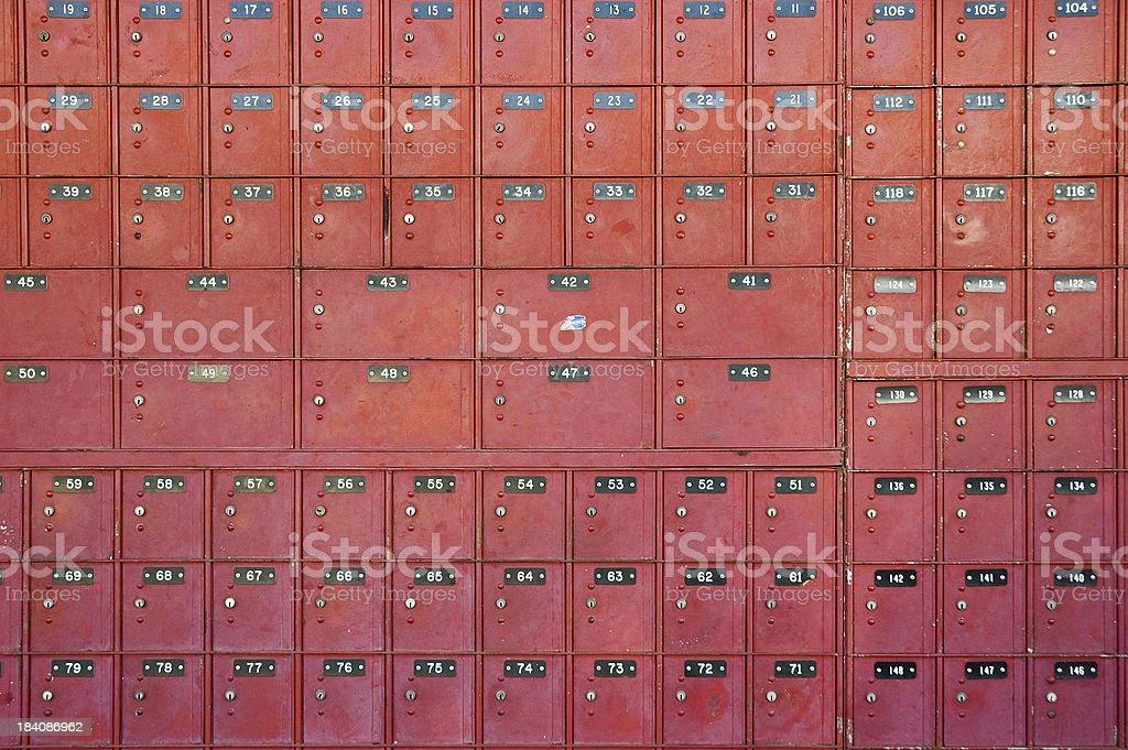 PO Boxes stock photo