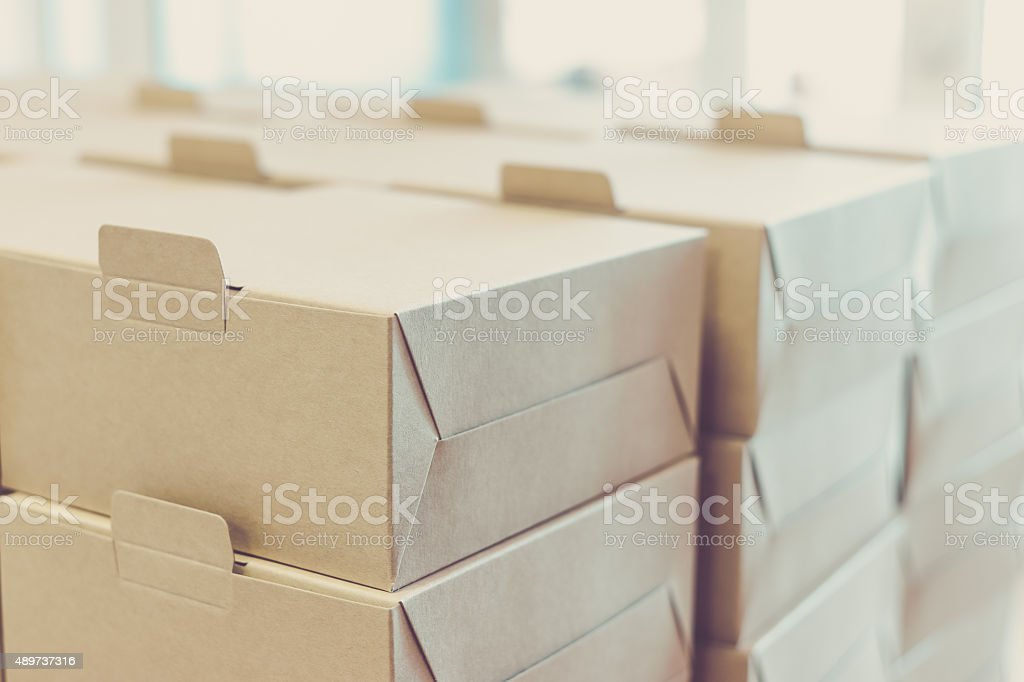 Boxes ready for delivery stock photo