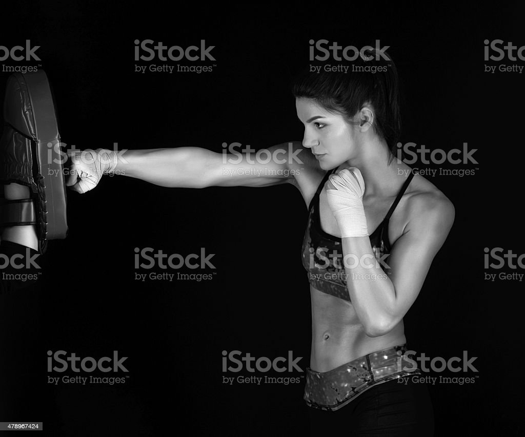 boxing and training stock photo